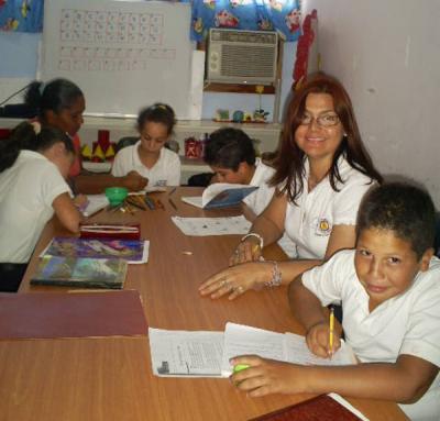 El aula integrada de la E.B. José Herrera Oropeza